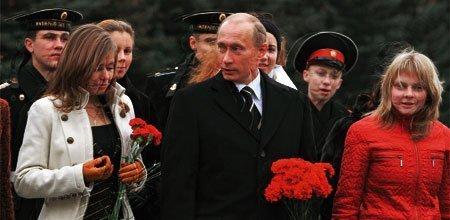 Putin and Marscha (left)