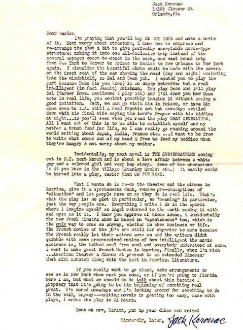 kerouacs letter to brando