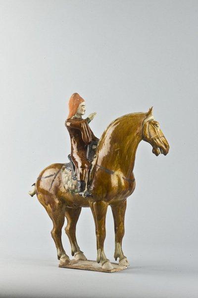 Sancai pottery horse and rider. Image courtesy of Ben Janssens Oriental Art.
